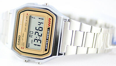 Casio Classic Digital Stainless Steel Alarm Stopwatch Casual Watch A158WEA-9 New 2