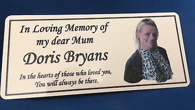 Personalised Memorial Rememberance Bench Photo Plaque Weatherproof Aluminium 2