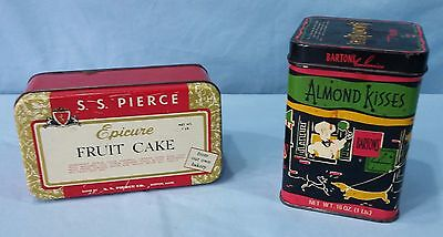 Vintage Advertising Tins Lithograph Epicure Fruit Cake And Barton's Almond Kiss 3