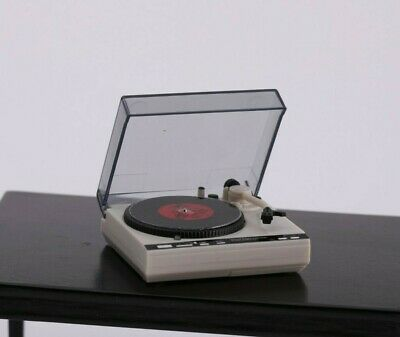 1:12 Scale Dollhouse Record Player Turntable Working Miniature Music Room Songs 10