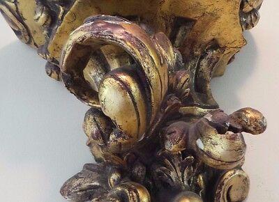 Antique Gilded Carved Wall Sconce Impressive Size 11