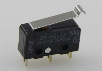 50Pcs OMRON SS-5GL13 Simulated Roller Lever 3Pin SPDT Subminiature Limit Switch