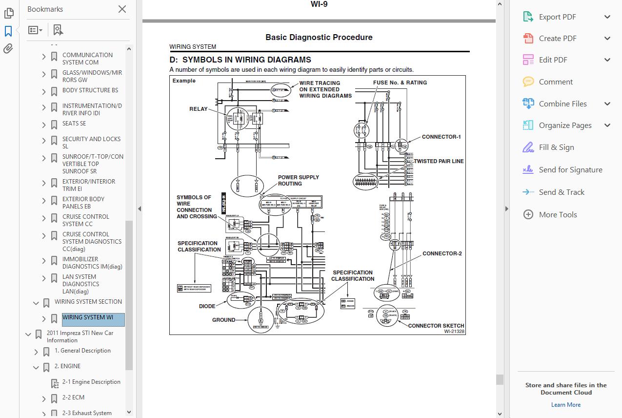Workshop Manual Service Repair Guide For Subaru Impreza 2007 2011 Wiring Eur 9 84 Picclick Fr