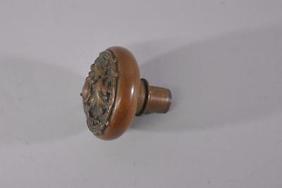 Antique Round Victorian Detailed Brass Door Knob Handle
