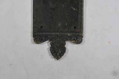 Antique Victorian Brass Wreath Detail Entry Door Plate 5