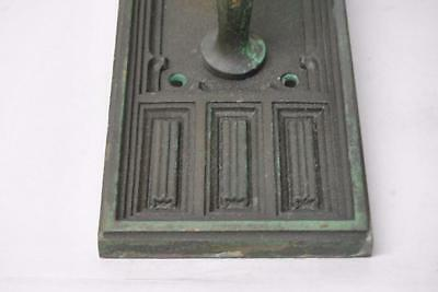 Antique Gothic Revival Cast Brass Door Pull Plate 3