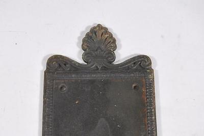 Antique Victorian Brass Wreath Detail Entry Door Plate 3