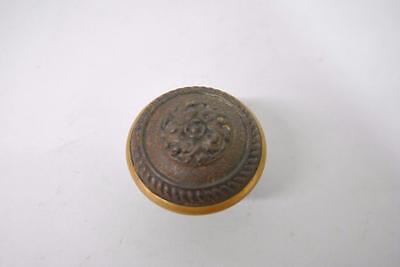 Antique Set Of Brass Victorian Knobs Handle Hardware 2