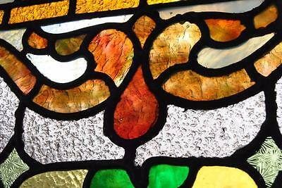 Pair Of American Stained Glass Windows With Fruit Basket Detail, 1910 8