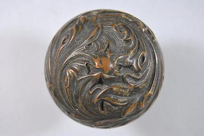 Antique Art Nouveau Corbin Brass Lockset Knobs / Handles Plate #09357 6