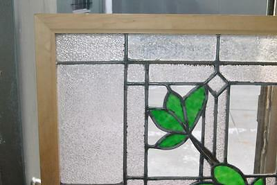 Antique Stained Glass Window Branch & Leaves Pattern 4
