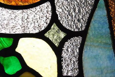 Pair Of American Stained Glass Windows With Fruit Basket Detail, 1910 7