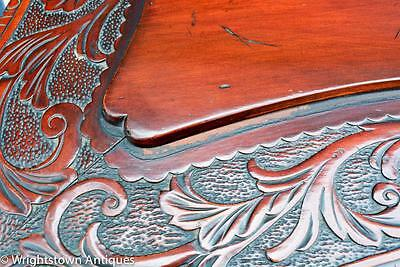 RARE Chinese 19C CARVED DRAGON Rosewood Library/Foyer TABLE Exlnt!! 10