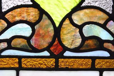 Pair Of American Stained Glass Windows With Fruit Basket Detail, 1910