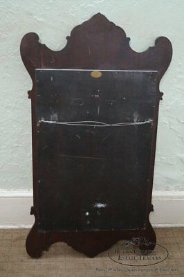 Old Colony Georgian Chippendale Style Yew Wood Frame Mirror
