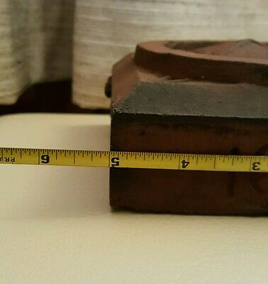Antique Arts & Crafts Architectural Artifact Red New England Ma Origin Decorate