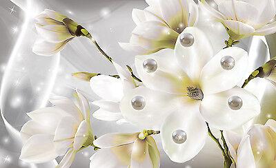 VLIES Fototapete Tapete Tapeten Blumen Lilie Magie Kunst Modern Perle 14N3507VE