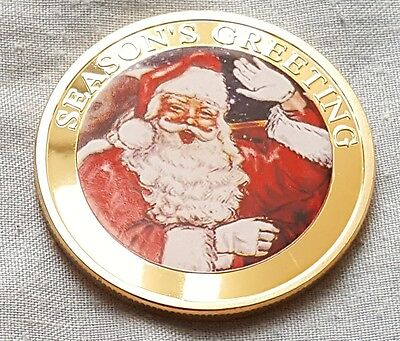 WR Merry Christmas 5PCS Silver Coin Set Santa Snowman Elk 2017 Collectibles