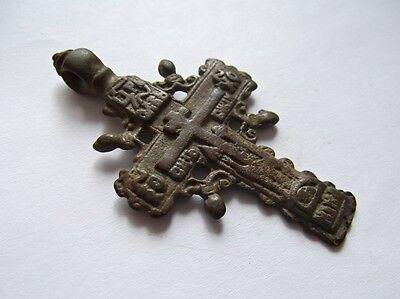 Medieval period  Bronze Cross Pendant 2