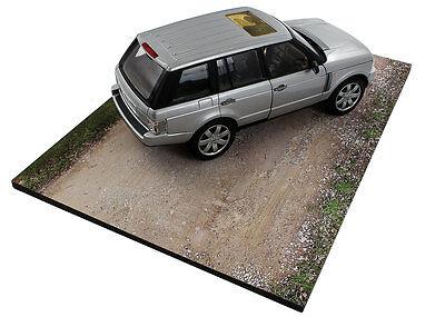Diorama base route en terre / plinth dirt road - 1/24ème - #24-1-E-001 6