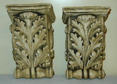 "Antique Finish Shelf Acanthus leaf plaster Wall Corbel Sconce Bracket 5.5"" 7"