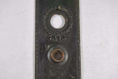 Antique Victorian Brass Wreath Detail Entry Door Plate 4