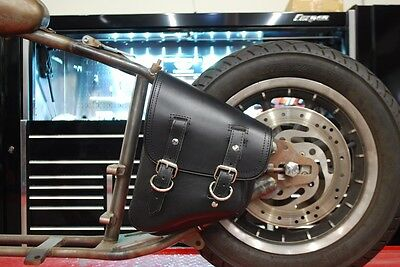 2168bea4132e ... Harley Davidson Softail Left Side Solo Saddle Bag With Tools Antique T La  Rosa 6