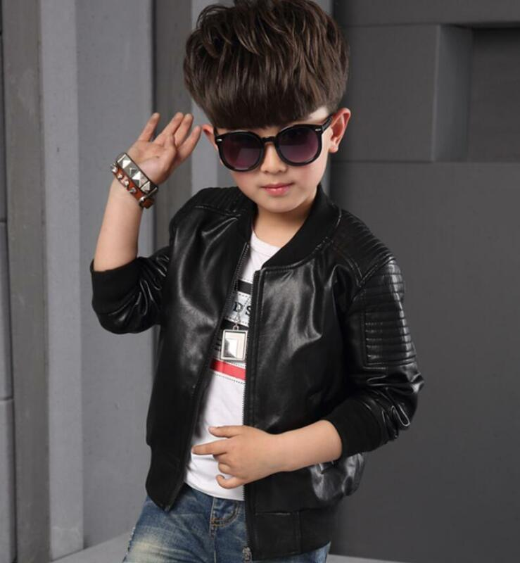 2264725da6e3 NEW TODDLER KIDS Boys Leather jackets Slim Motorcycle Leather Biker ...