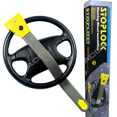 StopLock Original High Security Flashing LED Car Steering Wheel Lock Immobiliser 7