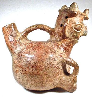 Pre-Columban Figural Vessel, Vicús Peru Ex Sothebys '76 3