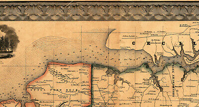 Map of Kent County Maryland c1860 repro 24x24 2