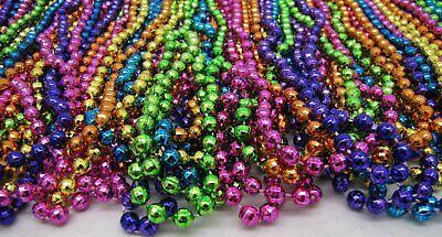 "Mardi Gras Beads Bright Neon Disco 6 Dozen 33"" Parade School Party 72 Necklaces 3"