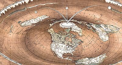 Flat Earth Maps 2 Sets Gleason S Standard 24x36 Square Stationary
