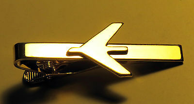 Tiebar Tie ClaspTie Clip Bar Embraer Company GOLD with logo for Pilots Crew