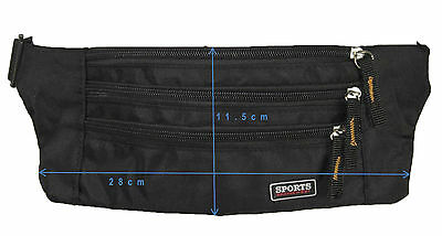 Money Belt travel bag secure waist zip 5