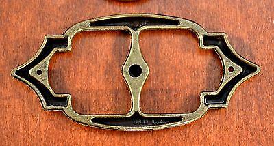 "Mid-Century AMEROCK Brass 3 3/4"" BACKPLATES & KNOBS"