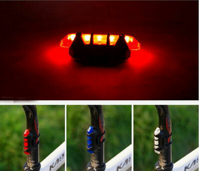 5 LED USB Rechargeable Bike Tail Light Bicycle Safety Cycling Warning Rear Lamp 9
