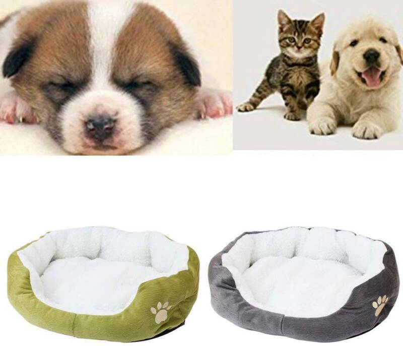 Deluxe Warm Soft Washable Dog Cat Pet Warm Basket Bed Cushion with Fleece Lining 8