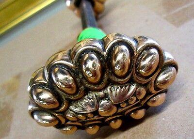 Fancy Pair Antique Victorian Polished Brass/bronze Door Knobs Ohio Estate # 36 5