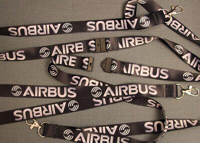 Airbus Black/White Lanyard neckstrap Lanyard for pilots, crews, fans