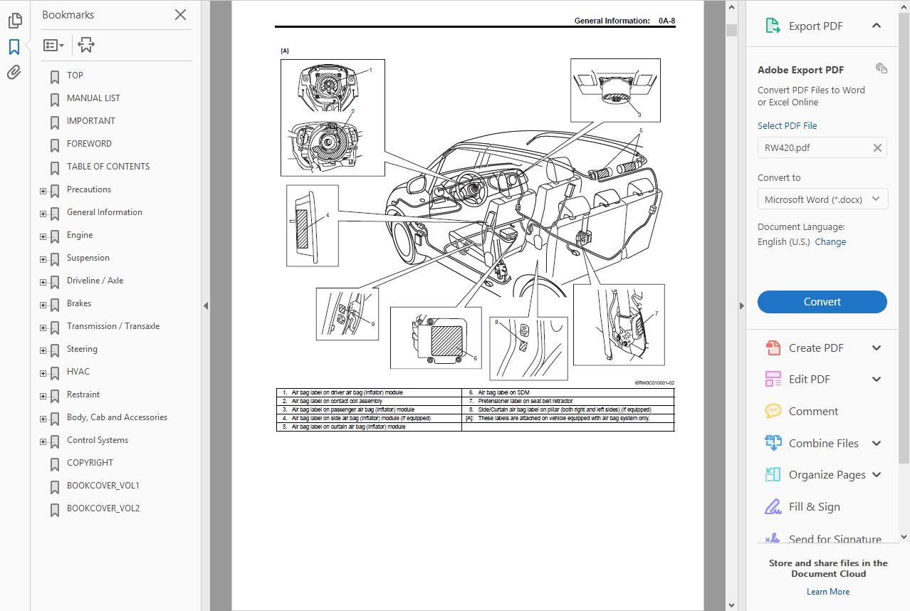 suzuki sx4 2012 service manual pdf