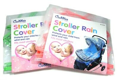 Rain Cover Raincover For Pushchair Stroller Baby Car Clear Fits Most Strollers 3