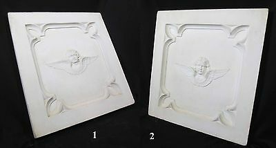 Antique Architectural Religious Italian Carved Marble Altar Angel/Cherub PANEL#2 12