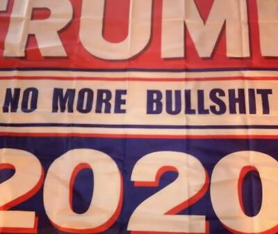 3x5 Ft Trump 2020 No More BS President Donald MAGA Flag US Red & Blue B 4