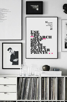 DEPECHE MODE ❤ Strangelove ❤ song lyric poster ART Limited Edition Print #23