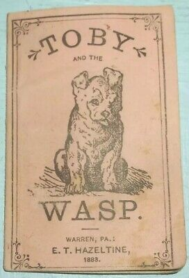 Antique 1883 Toby and the Wasp Booklet Piso's Cure for Consumption Medicine Rare 2