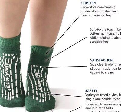 Medichoice Hospital Non Slip/No Skid Slipper Socks-Size Xxl- Green - Pack Of 4 2