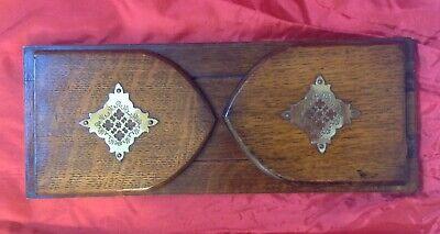 Antique Oak, Folding Ends, Extending Book Ends, Shelf, Desk Top, Brass Detail 6