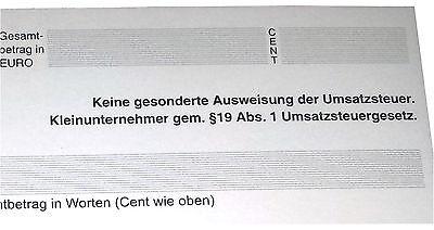 QUITTUNGSBLOCK Kleinunternehmer, 100 BLatt QUITTUNG, DIN A6 gelocht (22426) 2