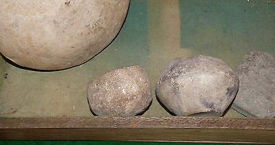 Pre Columbian Mexican Terra Cotta Pottery Beads Misc W/ Display Case 5